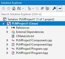 Project tree in solution explrorer